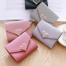 Fashion ladies wallet pu leather double zipper short girl folding tassel card package