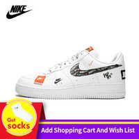 Nike força aérea 1 07 07 apenas fazê-lo af1 nova chegada utilitário respirável homens sapatos de skate baixo confortável tênis # AR7719-100