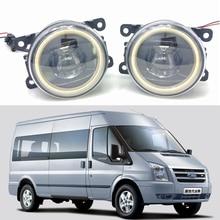 цена на For Ford Transit Platform Chassis 2006-2015 Car styling New Led Fog Lights 30W DRL Angel Eyes Fog Lamp 2pcs