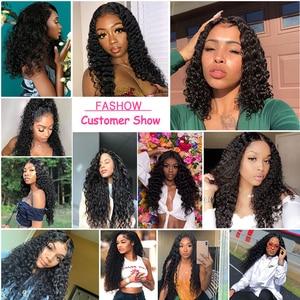 FASHOW 30 32 34 36 дюймов кудрявые человеческие волосы пряди перуанские волосы для наращивания Remy 1/3/4 шт густые вьющиеся волосы пряди