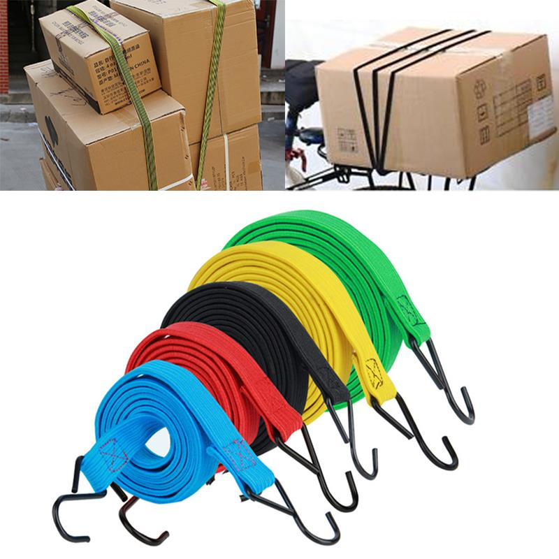 Elastic Fixed Rope Practical Durable Random Color Carabiner Cord Fastener Camping Luggage Rope Sturdy Spring Belt Hook