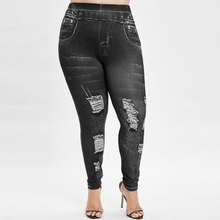 Large Size Jeans Woman Hole Ripped Jeans for Women