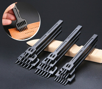 Round Hole Punch Row Prong Stitching Cutter Tool Make Hand Sewing Leather Craft Tools Spacing Cutting, 4/5/6mm 2/4/6 Holes - discount item  55% OFF Arts,Crafts & Sewing