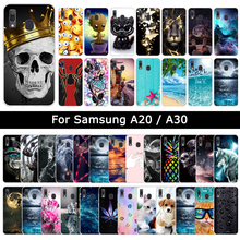 Soft TPU Silicone Cover For Samsung Galaxy A20 A30 Cool Patt