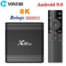 2020 VONTAR X96 powietrza TV, pudełko z systemem Android 9 9.0 procesor Amlogic S905X3 mini 4GB 64GB 32GB wifi 4K 8K X96Air TVBOX zestaw Top odtwarzacz multimedialny BOX