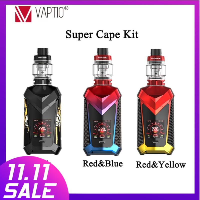 【20% Off Two Pieces】【 Extra Gift 5pcs COIL】Vaptio P1 Vape 50W  Kit E-cigarette  2.0 Ml Tank 2100mAH Build-in Battery