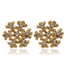 Aros New Arrival Rushed Tin Alloy Classic 2019 Christmas Gift Bell Snowflakes Stud Earrings Manufacturers Selling