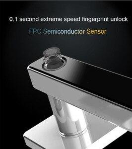 Image 2 - Биометрический Умный Замок с отпечатком пальца, цифровой БЕСКЛЮЧЕВОЙ электронный дверной замок, разблокировка по отпечатку пальца и ключу для домашнего офиса, безопасность