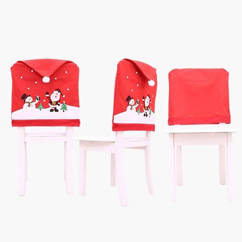 Чехол для рождественского обеденного стула navidad рождественские