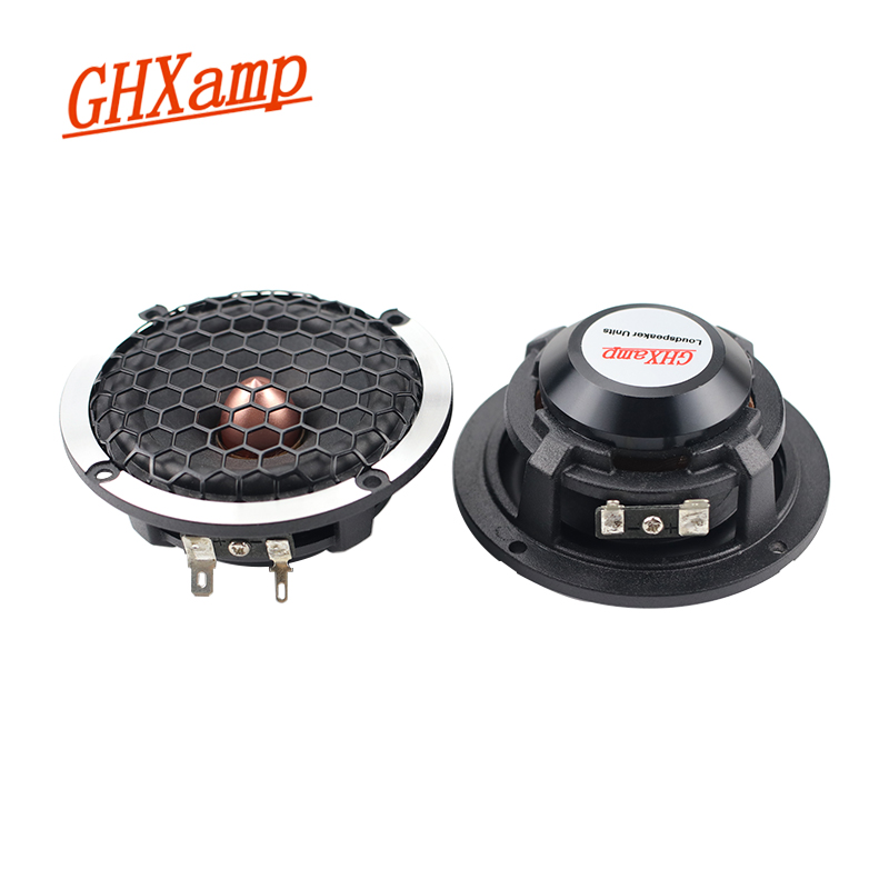 GHXAMP 2PCS 3 inch midrange speaker wool basin car DSP 3 way crossover Surround Center pure intermediate frequency 4OHM 30W