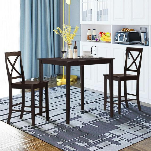 Square Dining Table w/Rubber Wood Legs 35.5 3