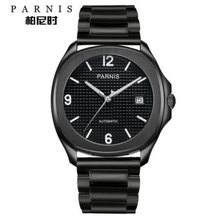 Parnis luxury Automatic Watches Minimalist Watches Mens Wrist Watch Sapphire Crystal Mechanical Watches 155 cheap 10Bar Leather Deployment Bucket Fashion Casual Automatic Self-Wind 23cm Stainless Steel Auto Date Complete Calendar Luminous Hands