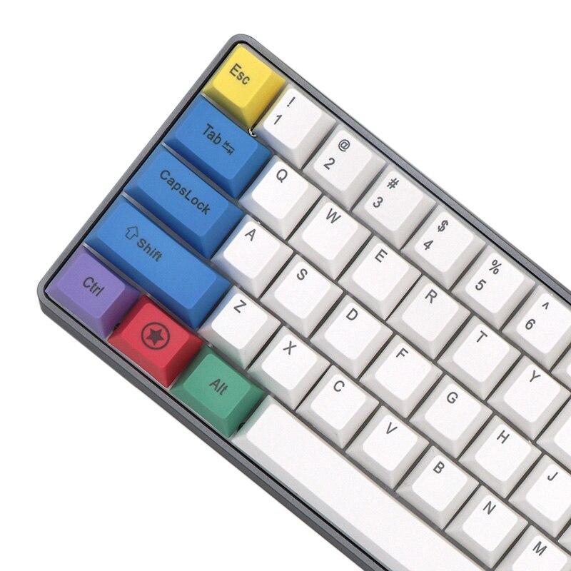 Mechanical Keyboard Keycaps PBT Chalk Set Color Keycap GH60 FFC660 64keys 87 Eys 104keys 108keys Key Cap