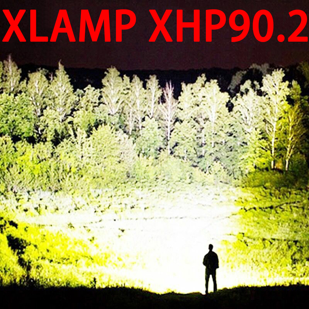 Aliexpress11 11 XHP90 2 most powerful led flashlight usb Zoom Tactical torch xhp70 2 18650 26650 Rechargeable battery hand light