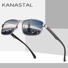 Fashion Sunglasses Men Polarized Square Mental Men