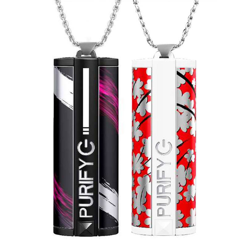 Носимое ожерелье для очистителя воздуха, портативный мини USB очиститель воздуха, генератор отрицательных ионов, низкий уровень шума, освежи...