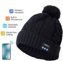 Беспроводной Smart шапочка гарнитура музыкальные вязать наушники Динамик шляпа колпачок для наушников Встроенный микрофон
