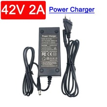 36V/42V charger Lithium battery Output 42V2A input 100-240V AC Li-poly For 10series 36V electric bicycle