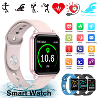 Bluetooth Smart Watch 1.3 inch IP67 Waterproof Heart Rate Blood Pressure Blood Oxygen Monitor Smart Watch With Fitness Tracker