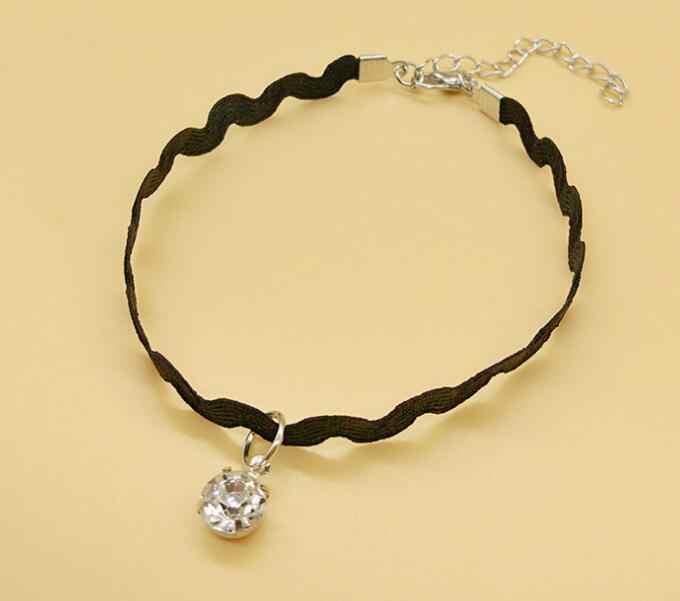 Newest Simple Elegant jewelry Fashion Style Lace Crystal Anklet Bracelet 4 girls
