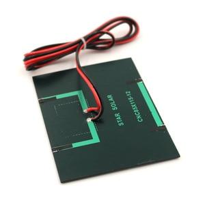 Image 4 - 태양 전지 패널 1.5W 12V 100cm 연장 와이어 미니 태양 전지 DIY 배터리 전화 충전기 휴대용 모듈 다결정