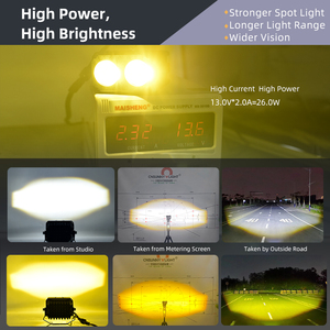 Image 2 - CNSUNNYLIGHT Mini Bi Farbe LED Projektor Objektiv Arbeit Licht Nebel Lichter 4X4 Offroad Auto Scheinwerfer Dual Strahl Moto Bike Scheinwerfer 12V