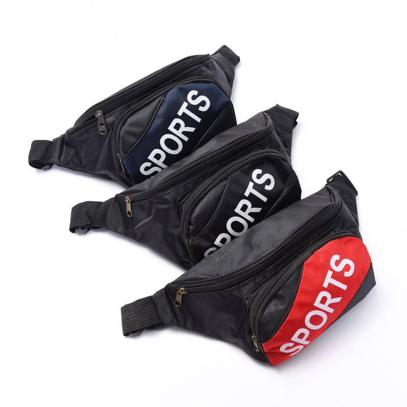 New Style Lettered Zipper Multi-functional Outdoor Wallet Men Fashion Waterproof Running Sports Waist Pack