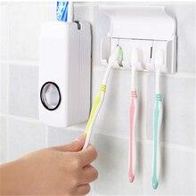 Высокое качество Ванная комната Комплекты Автоматический Диспенсер зубной пасты, для зубной щетки держатель с креплением
