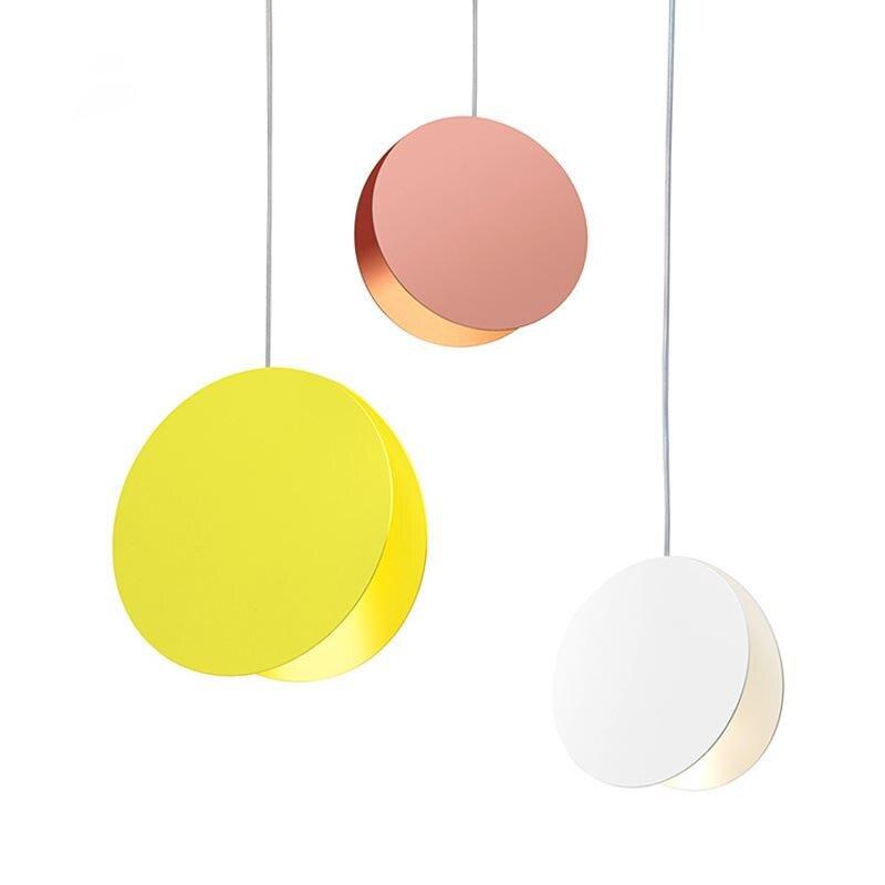Modern Iron Pendant Lights Minimalism Circular Lampshade Pendant Lamp Dinning Room Lights Bar Coffee House Home Decor Lamps