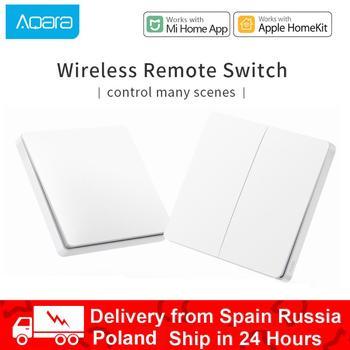 Xiaomi Aqara Smart Switch Light Remote Control ZiGBee Wifi Wireless Key Wall Switch Work With Gateway For Homekit Mi Home APP