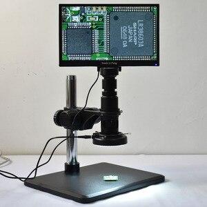 "Image 5 - Full HD 1080P 60FPS Sony sensörü 11.6 ""entegre ekran ölçüm mikroskop kamera HDMI Video büyüteci USB depolama PCB tamir"