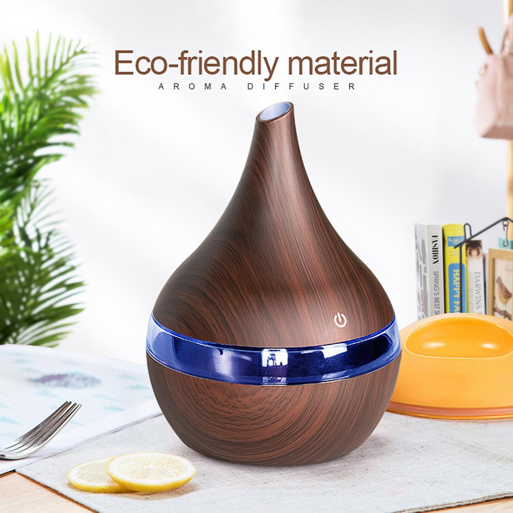 Fashion 300ml USB Ultrasonic LED Light Essential Oil Electric Air Diffuser Humidifier Home Decoration Chose The Design You Like