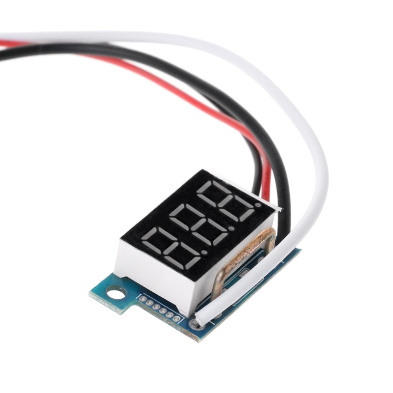 DC0-10A цифровой светодиодный амперметр измеритель тока панель 0.36in модуль обратная защита