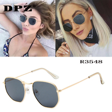 Luxury brand Women Sunglasses Brand Designer Polygon Clear Lens Sunglas