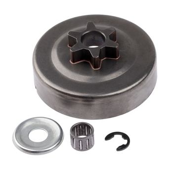 3/8 6T Clutch Drum Sprocket Washer E-Clip Kit For Stihl Chainsaw 017 018 021 023 025 Ms170 Ms180 Ms210 Ms230 Ms250 1123 фото