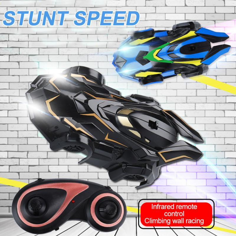 New RC Car Wall Racing Car Toys Powerful Wall Climbing Remote Control Car Radio Controlled Stunt Racing With Led FOR Xmas Gift