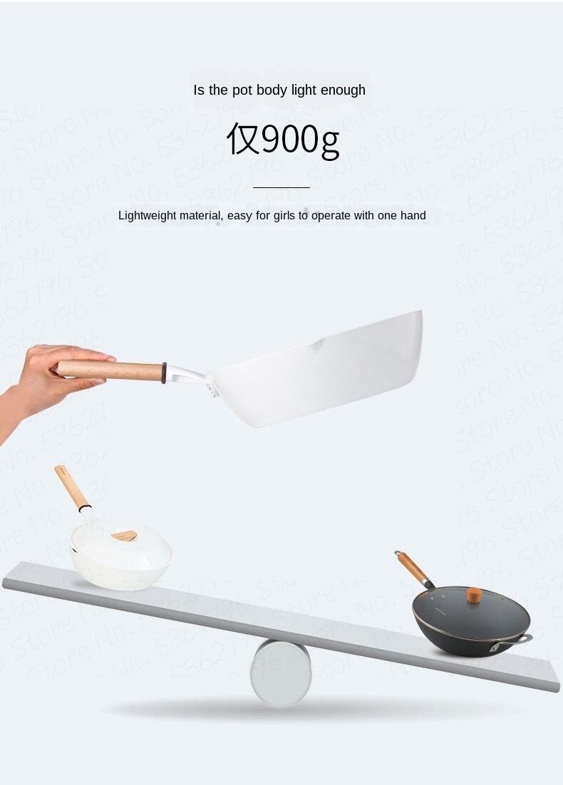 Design leve cerâmica antiaderente frigideira não-picareta fogão