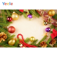 Yeele Christmas Party Photocall Ins Balls Garlands Photography Backdrops Personalized Photographic Backgrounds For Photo Studio