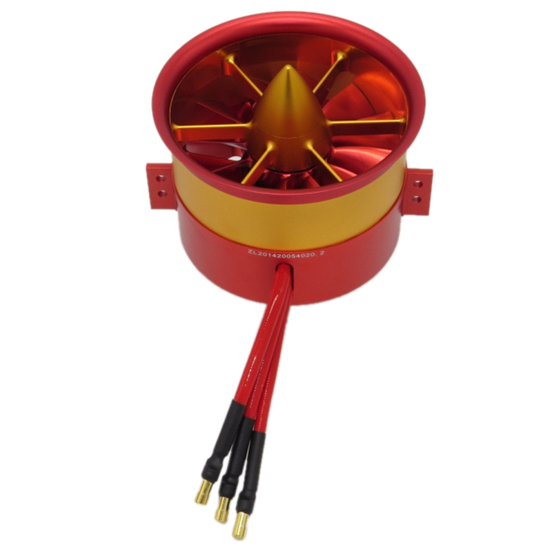 105Mm 4260 875KV 12S Duct Fan Unit with Brushless Outrunner Motor for RC EDF Jet AirPlane