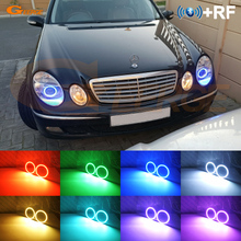 Excellent RF remote Bluetooth APP Multi Color Ultra bright RGB LED Angel Eyes kit For Mercedes Benz e class w211 2003 2009