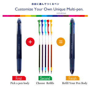 Image 2 - LifeMaster recambio de bolígrafo múltiple, 6 unidades por lote, Pilot Hi Tec C, Gel de Coleto, 0,3mm, Negro/azul/rojo/15 colores disponibles