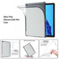 A prueba de golpes a prueba de caja de mesa para Huawei MediaPad T5 10,1 8,0 M5 M3 Lite 10,8 de 8,4 de 10,0 M6 10,8 C5 8,0 caso suave transparente de la cubierta del TPU del