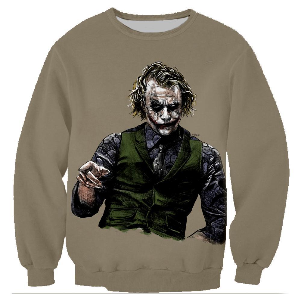 Joker Sweatshirts Funny Harajuku Unisex Pullover Hoodies 3D Print Long Sleeve Crewneck Streetwear Hoody Clothing Chandal  Hombre