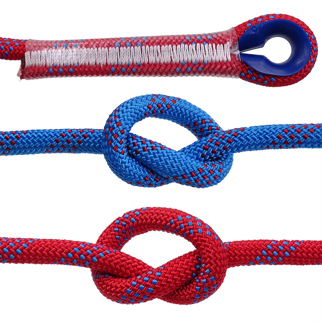 50m Static Rock Climbing Rope 10mm Tree Wall Climbing Equipment Gear Outdoor Survival Fire Escape Rescue Safety Rope 10m 20m 30m 2