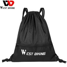 WEST BIKING Men Backpack Drawstring Bags for Basketball Football Storage Net Pocket Gym Mountaineering Travel Running Sports Bag(China)