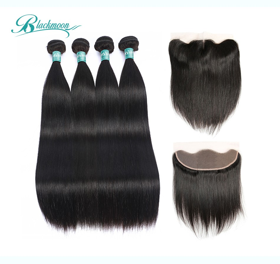 straight hair bundles with fronta