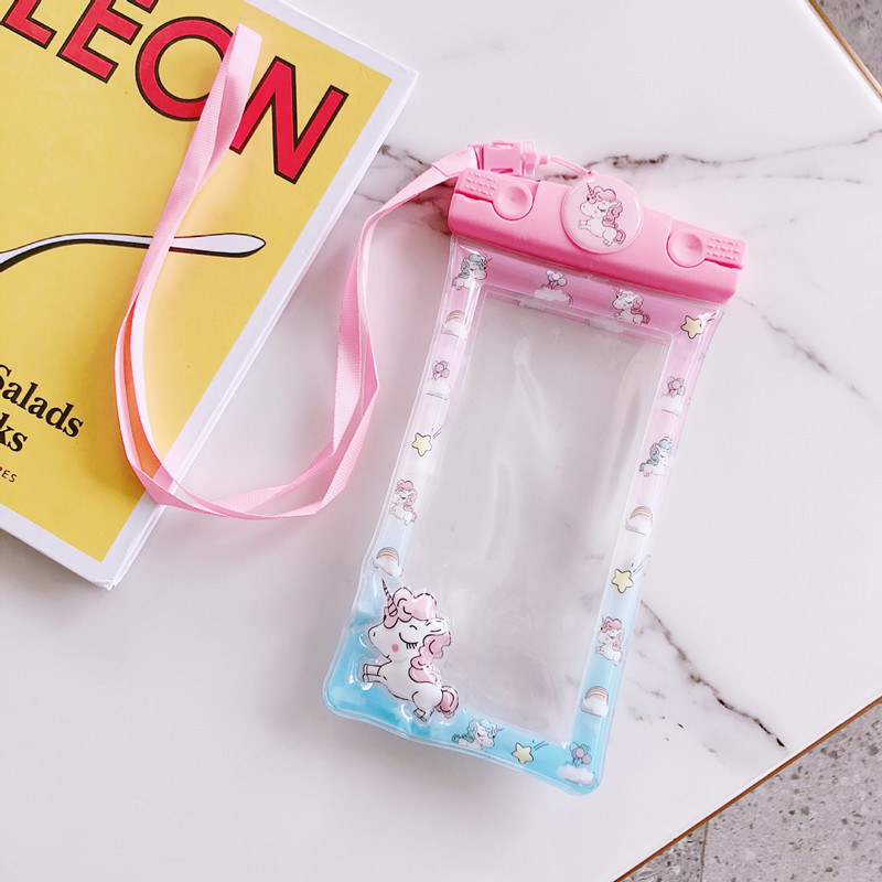 Universal Unicorn Waterproof Phone Case For IPhone Cover Pouch Bag Cases Cute Cartoon Swimming Waterproof Bag