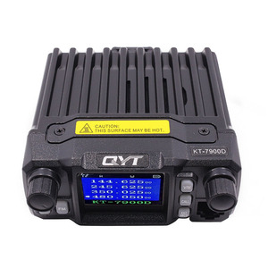 Image 2 - 2020 Versão mais recente Mini Rádio Móvel QYT KT 7900D 25W Quad Band 144/220/350/440MHz KT7900D UV transceptor ou com fonte de Alimentação