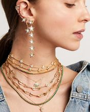 2020 sommer neue halskette pin form charme schmuck Gold farbe micro pave tiny cz sicherheit pin link kette choker halskette für hochzeit