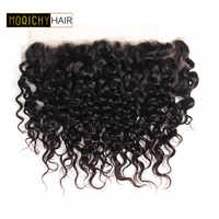 Morichy Brazilian hair water wave 13*4 Lace frontal Non remy Natural Black Human hair Extension Can Be Restyled
